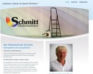 Bild Webseite Schmitt Jürgen, Malerbetrieb Saarbrücken