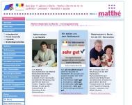 Bild Webseite Matthè Malereibetrieb Berlin