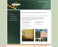 Bild Webseite Hans Koop Hamburg