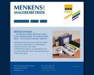 Bild Webseite Menkens Malereibetrieb Bremen