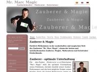 Website Mr. Marc Magic - Magic-Entertainment