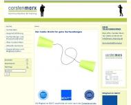 Bild Webseite Carsten Marx - Kommunikation und Training Berlin