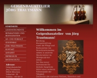 Website Geigenbauatelier Jörg Trautmann, München