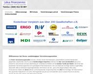 Bild Webseite Labus Finanzservice Berlin