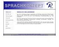 Website A-Z SprachenKonzept