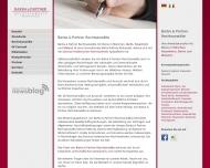 Bild Webseite Barba & Partner Rechtsanwälte München