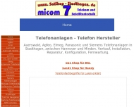 Website MICOM Telefonanlagen Installation
