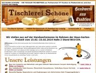 Website Tischlerei-Schoene - Ihr Tischler Fachbetrieb im Muldental/Leipzig