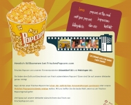 Website FRISCHES POPCORN