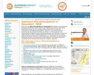 Website ALPHATRAD Germany