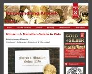 Website Münzen- und Medaillen-Galerie Köln, Auktionshaus Knopek