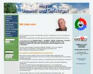 Website Mayer Umwelt & Gefahrgut
