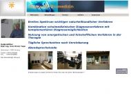 Bild Webseite Praxis für Biomedizin Hamburg