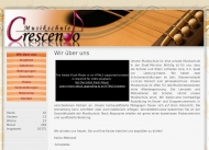Website Musikschule Crescendo