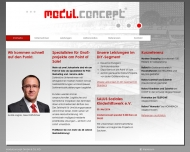 Website modulconcept