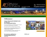 Bild Webseite Makler-Fabrik Berlin
