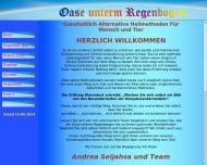Website Oase unterm Regenbogen