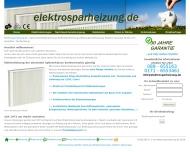 Bild Webseite Elektrosparheizung Online München