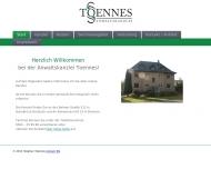 Bild Webseite Anwaltskanzlei Toennes Osnabrück