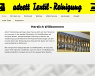 Website adrett Textilreinigung Drews
