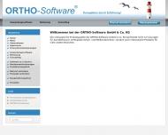Bild Webseite ORTHO-Software Wedel