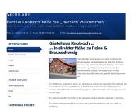 Website Gästehaus Knobloch