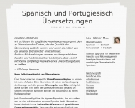 Bild Webseite Hübner, Lea Übersetzerin für Spanisch und Portugiesisch (BDÜ) Berlin
