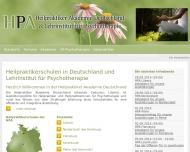 Website HPA Heilpraktiker Akademie Deutschland & Lehrinstitut für Psychotherapie