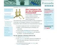 Website Akademie für Pressearbeit - Pressada