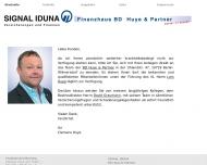 Website SIGNAL IDUNA Bezirksdirektion Huye & Partner
