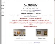Website Kunsthaus Iliev Galerie