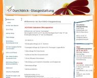 Website Durchblick- Glasgestaltung