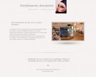 Bild Webseite Parfümerie Amulette München