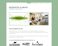 Website KOSMETIK & MEHR, Heildje v. Renesse