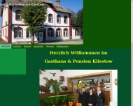 Website Gasthaus Kliestow Zimmervermietung