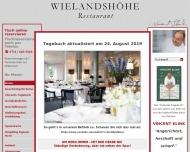 Bild Webseite Restaurant Wielandshöhe Stuttgart