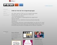 Bild Webseite FSW Gesellschaft für Werbung und Kommunikation Köln