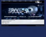 Bild Webseite sw-pro Film- und Fernsehproduktion Leipzig Leipzig