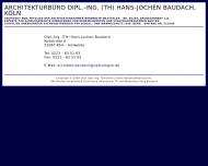 Bild Webseite Architekturbüro Dipl.-Ing. (TH) Hans-Jochen Baudach Köln