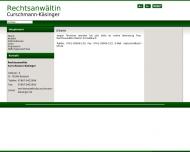 Bild Webseite Rechtsanwaltskanzlei Gabriele Curschmann-Käsinger Endingen am Kaiserstuhl