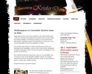 Bild Webseite Gaststätte Krieler Dom Köln