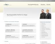 Bild Webseite Rechtsanwälte Herfort & Hopp Berlin