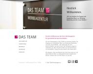 Website DAS TEAM Werbeagentur
