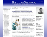 Website BellaDerma Fachzentrum
