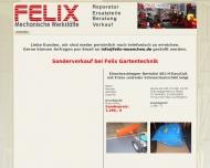 Bild Webseite FELIX Mechanische Werkstätte e.K München