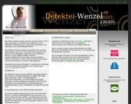 Bild Webseite Kölner Detektei Wenzel Köln