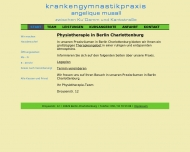 Bild Webseite Physiotherapie Angelique Musall Berlin