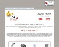 Website A-Zentrum-Schlüsseldienst für Tür, Haus, Auto u. Tresoröffnung