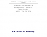 Website Autoankauf Potsdam   0331 / 58 58 558