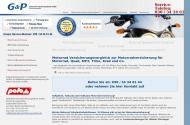 Bild Webseite G&P Motorrad Versicherungsdienst Berlin